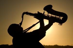 saxophonist at dusk 2