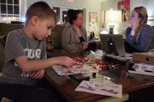 Though the Family Story Project, a Duke student collaborates with a family at the Ronald McDonald House in Durham.