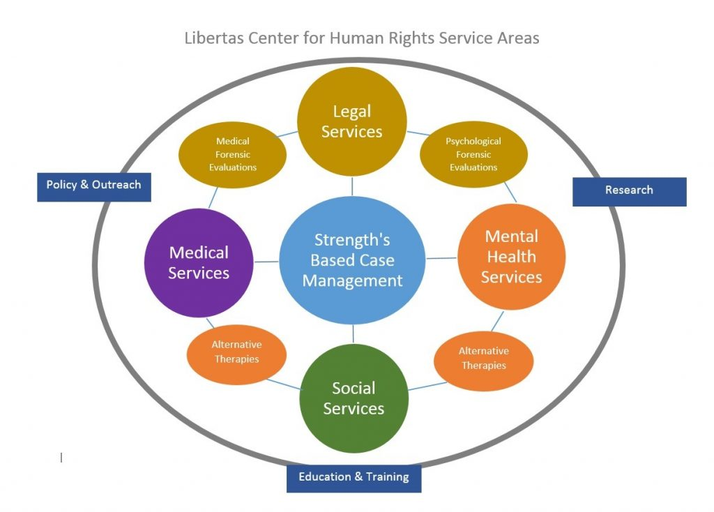 Chart showing services offered by the Libertas Center (credit: Libertas Center)