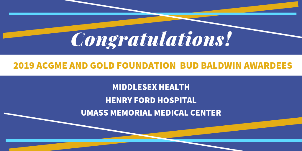 Congrats to 2019 Bud Baldwin winners