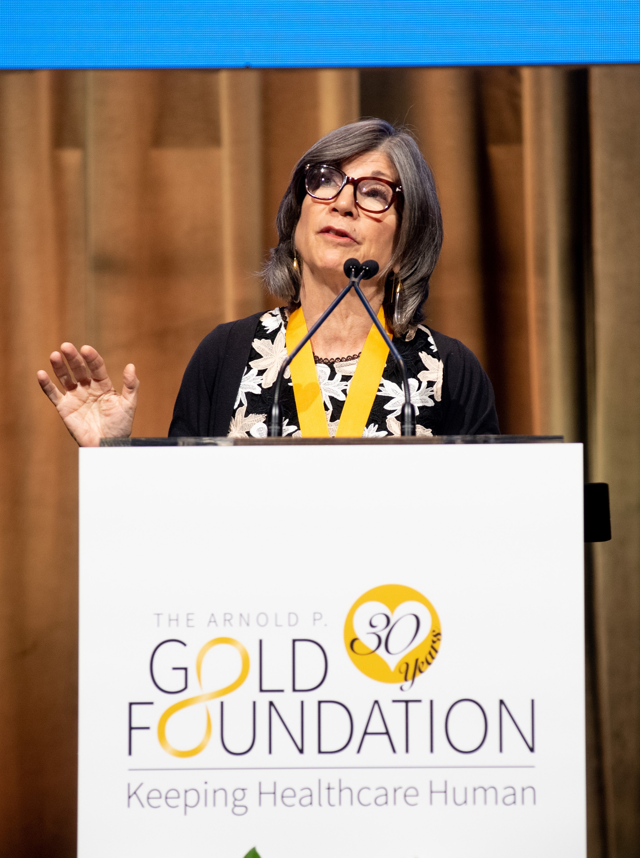 Anna Quindlen, speaking at the 2019 Golden Thread Gala, on June 13, 2019