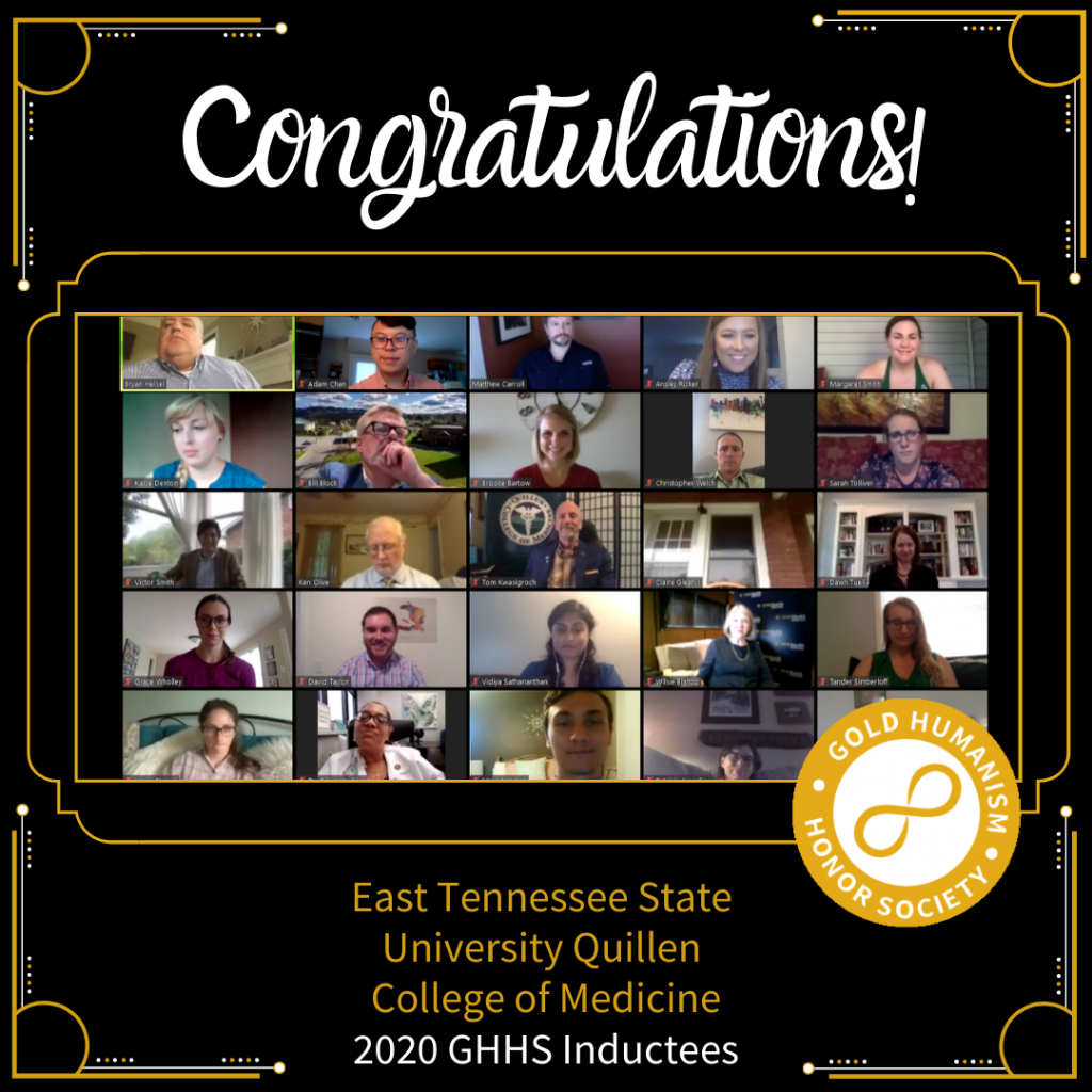 East Tennessee State University Quillen College of Medicine GHHS Virtual Induction 2020