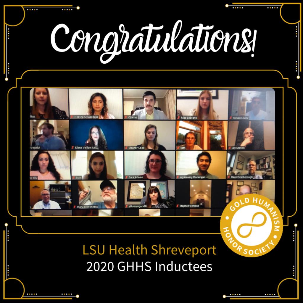LSU Health Shreveport GHHS Virtual Induction 2020