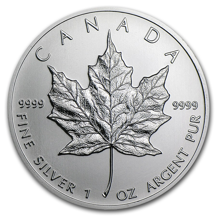 Silver Canadian Maple Leaf