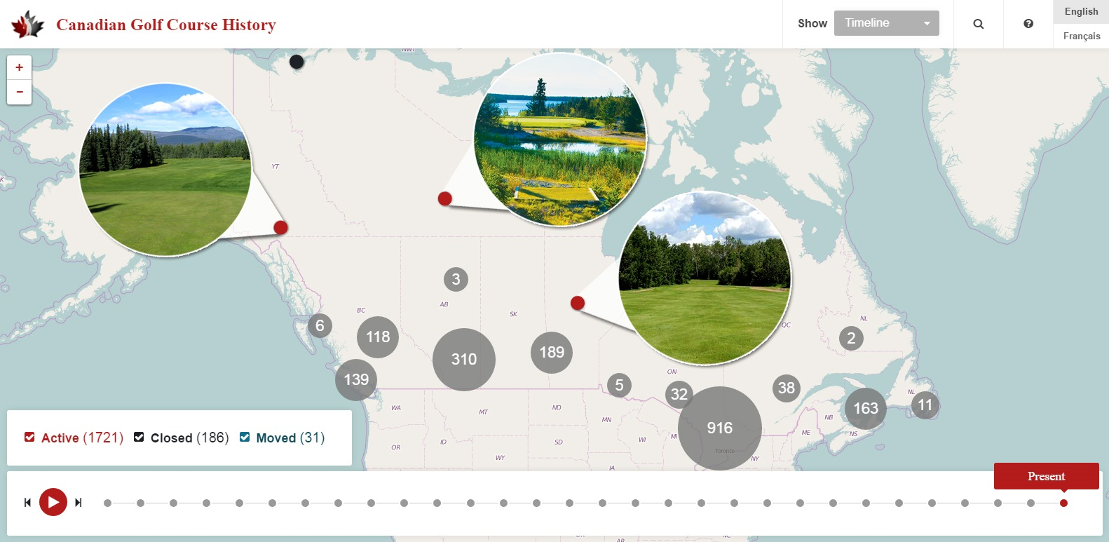 Map Of Canada History.Mapping The History Of Canadian Golf Golf Canada