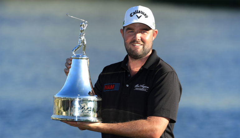 Late eagle carries Leishman to victory at Bay Hill