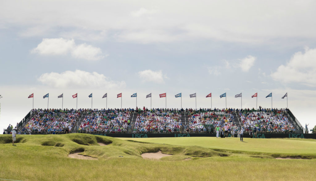 Erin Hills didn't put up much of a fight in round one of the