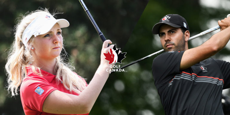 maddie szeryk and joey savoie named golf canada s 2018 players of