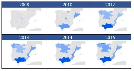 Tabla 2. Popularidad de Abdullah Al-Thani en España.