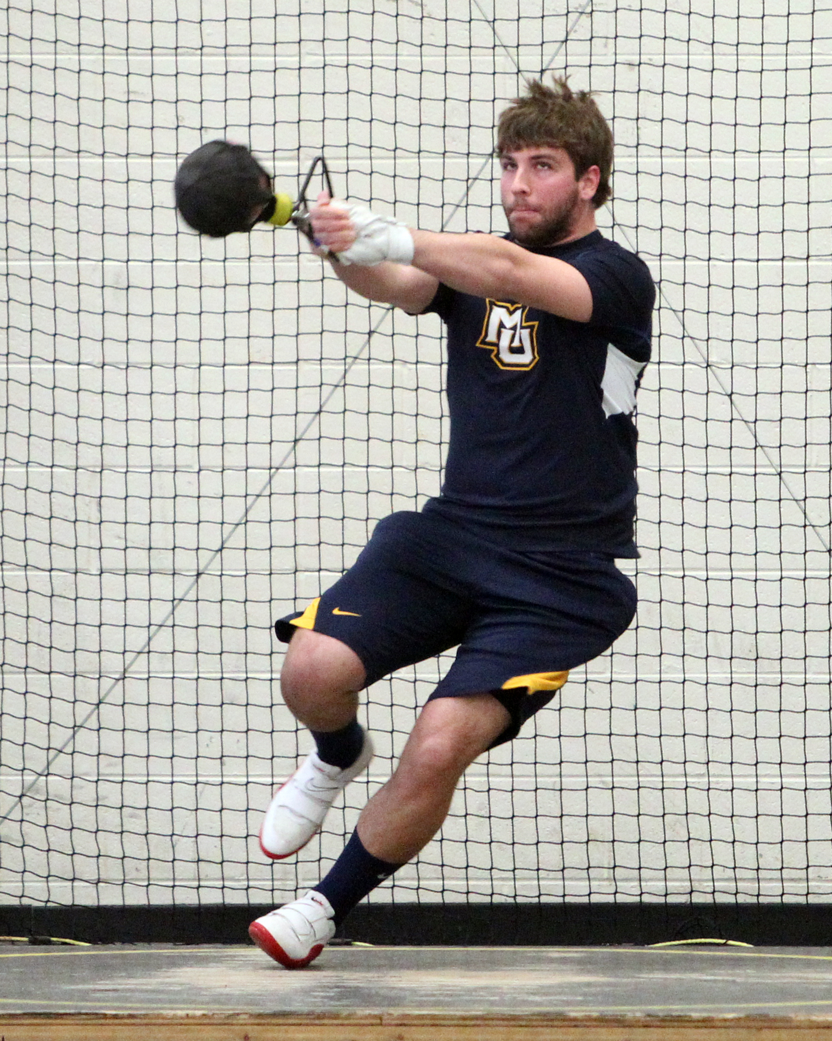 Junior Bret Hardin and the rest of the Marquette throwers will see their first action of 2012-13.