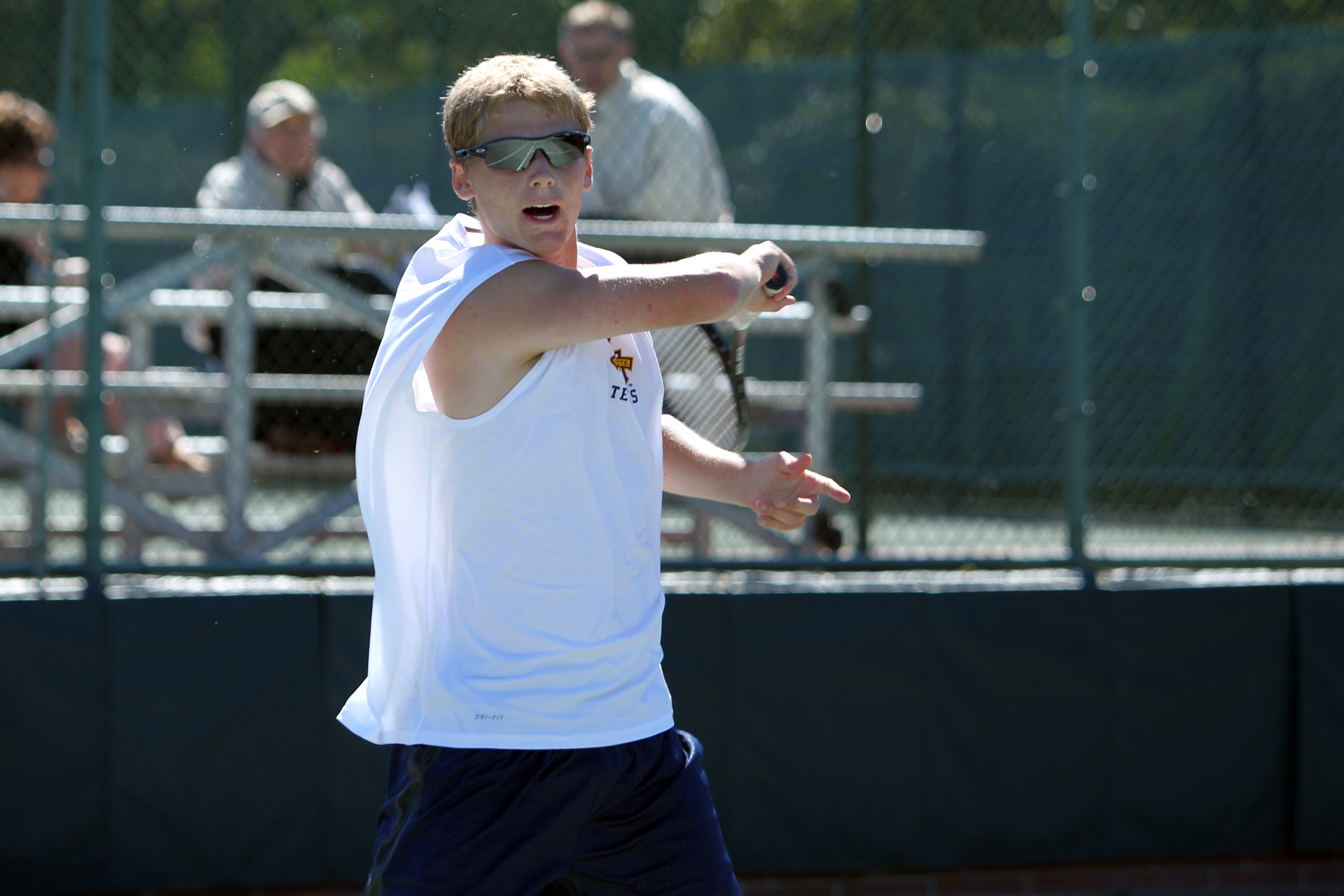 Freshman Nick Dykema will play for his second tourney title on Sunday.