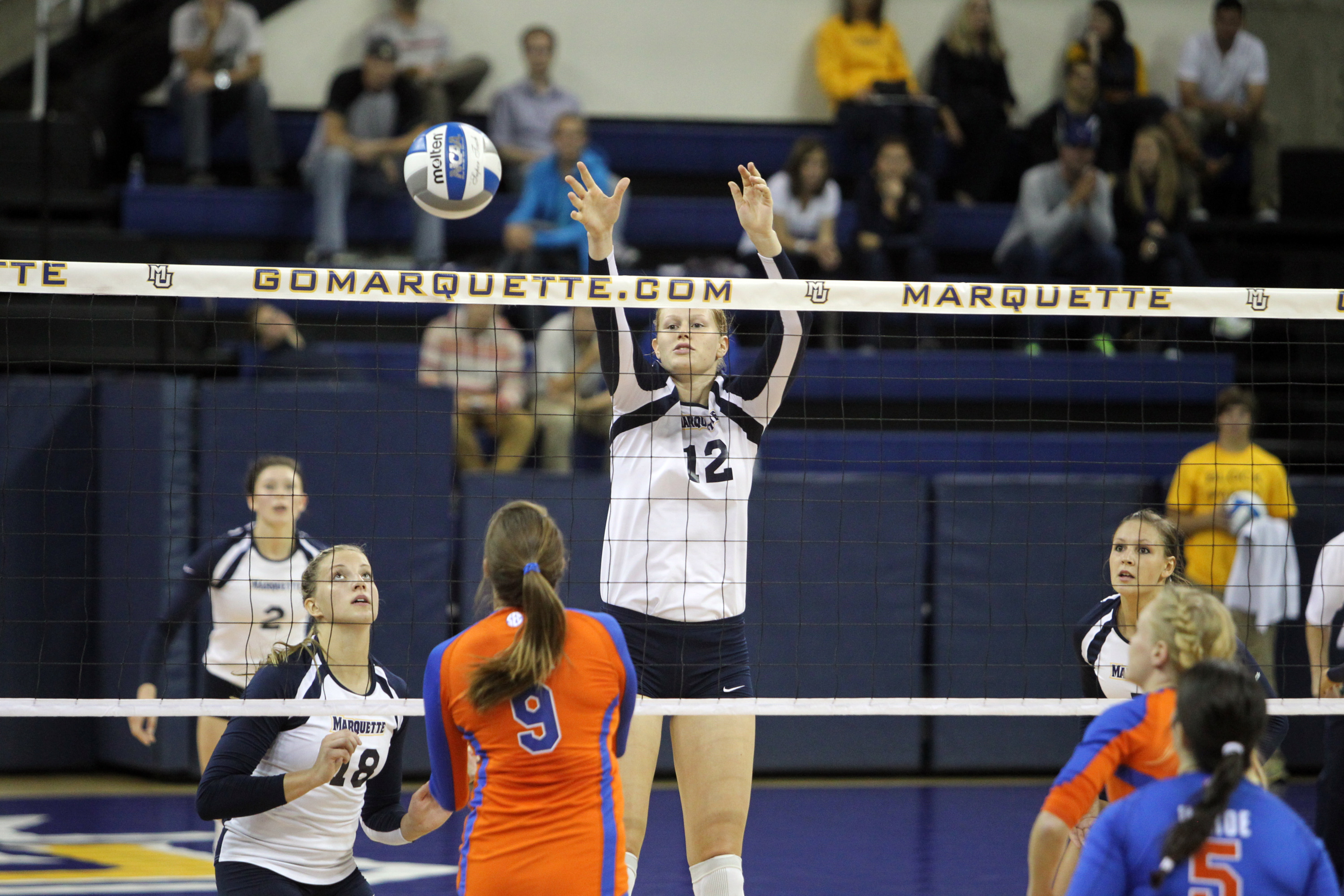 Jackie Kocken hit .583 with eight kills and two blocks in the win.