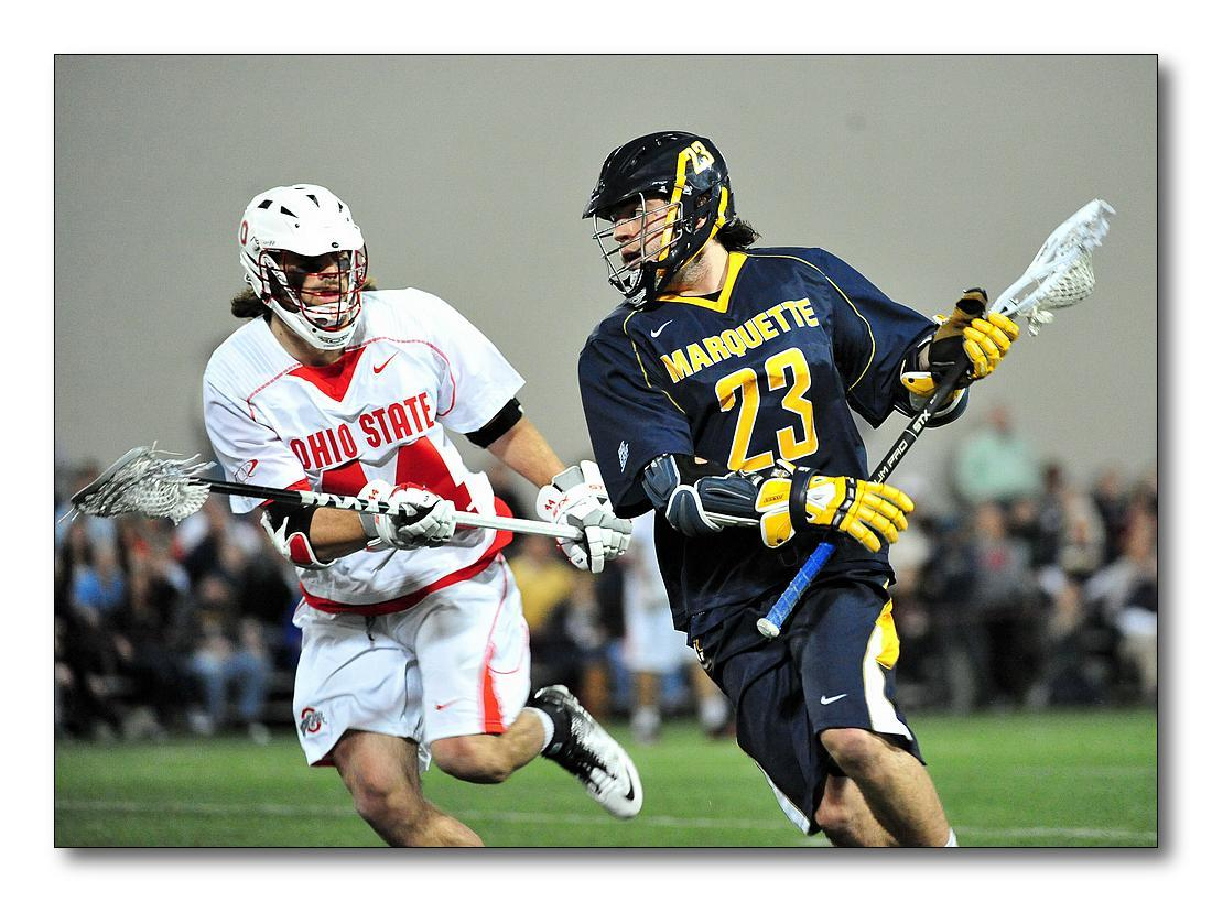 Tyler Melnyk had two of Marquette's four goals Friday at Denver.