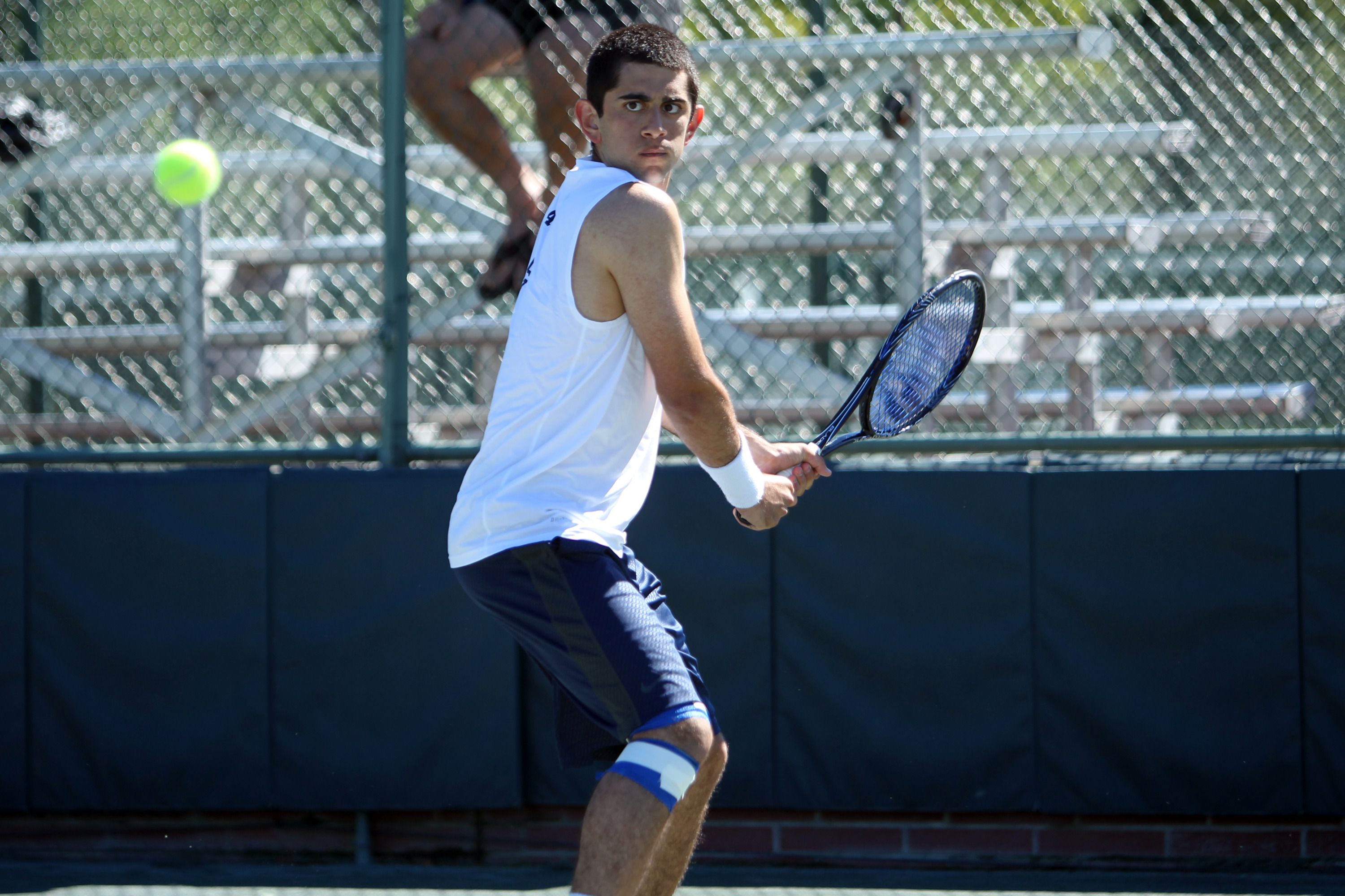 Junior Cameron Tehrani accounted for two wins Friday night.
