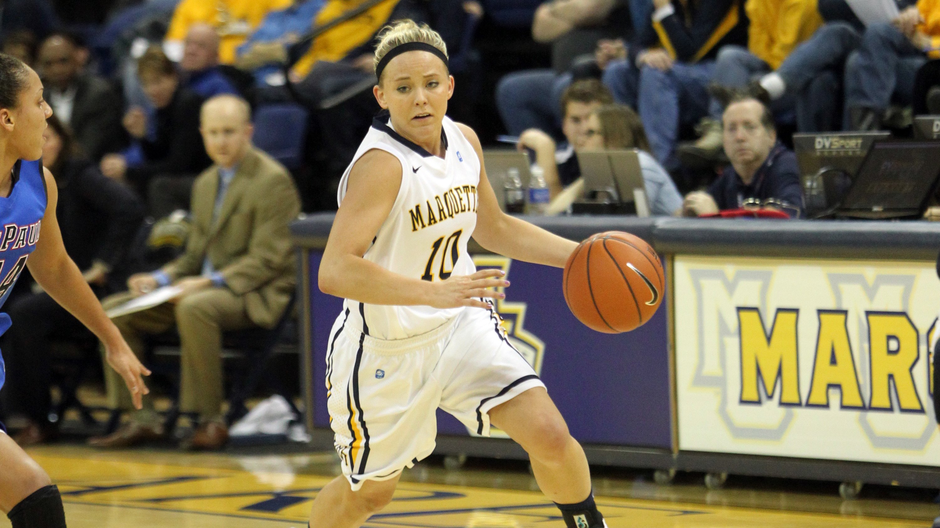 Sophomore guard Brooklyn Pumroy hit 5-of-6 free throws in the final 30 seconds to seal the victory.