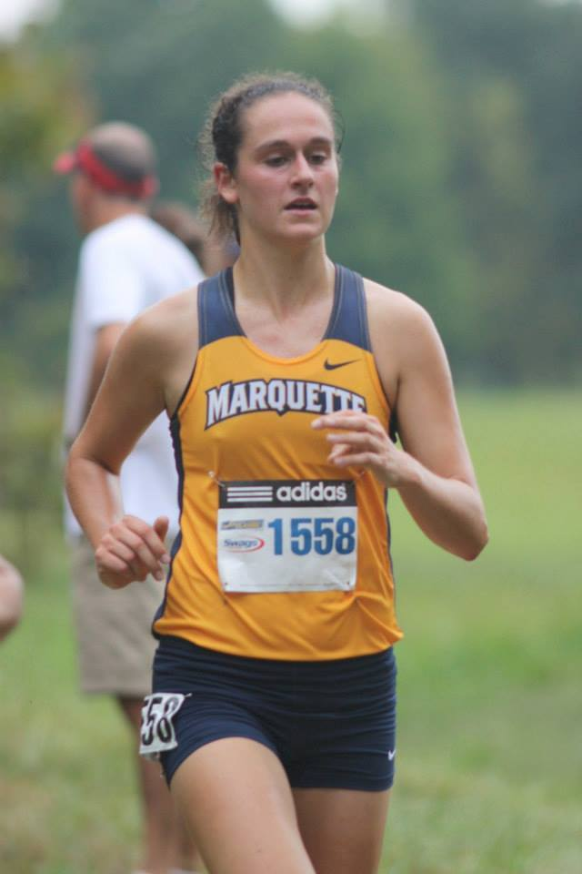 Freshman Alison Parker, pictured here during cross country season, has made an immediate impact in the middle distances.