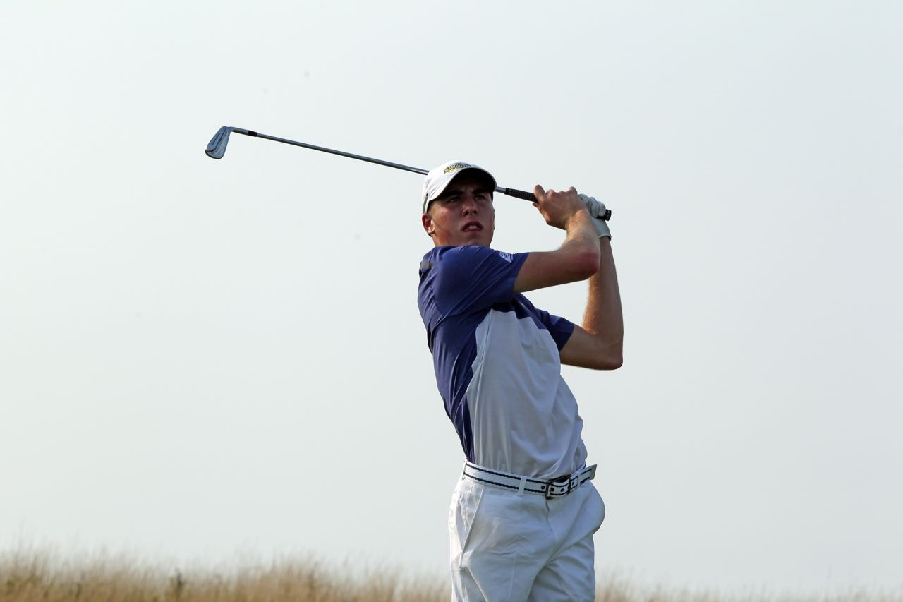 Freshman Oliver Farrell has posted three straight sub-par rounds.