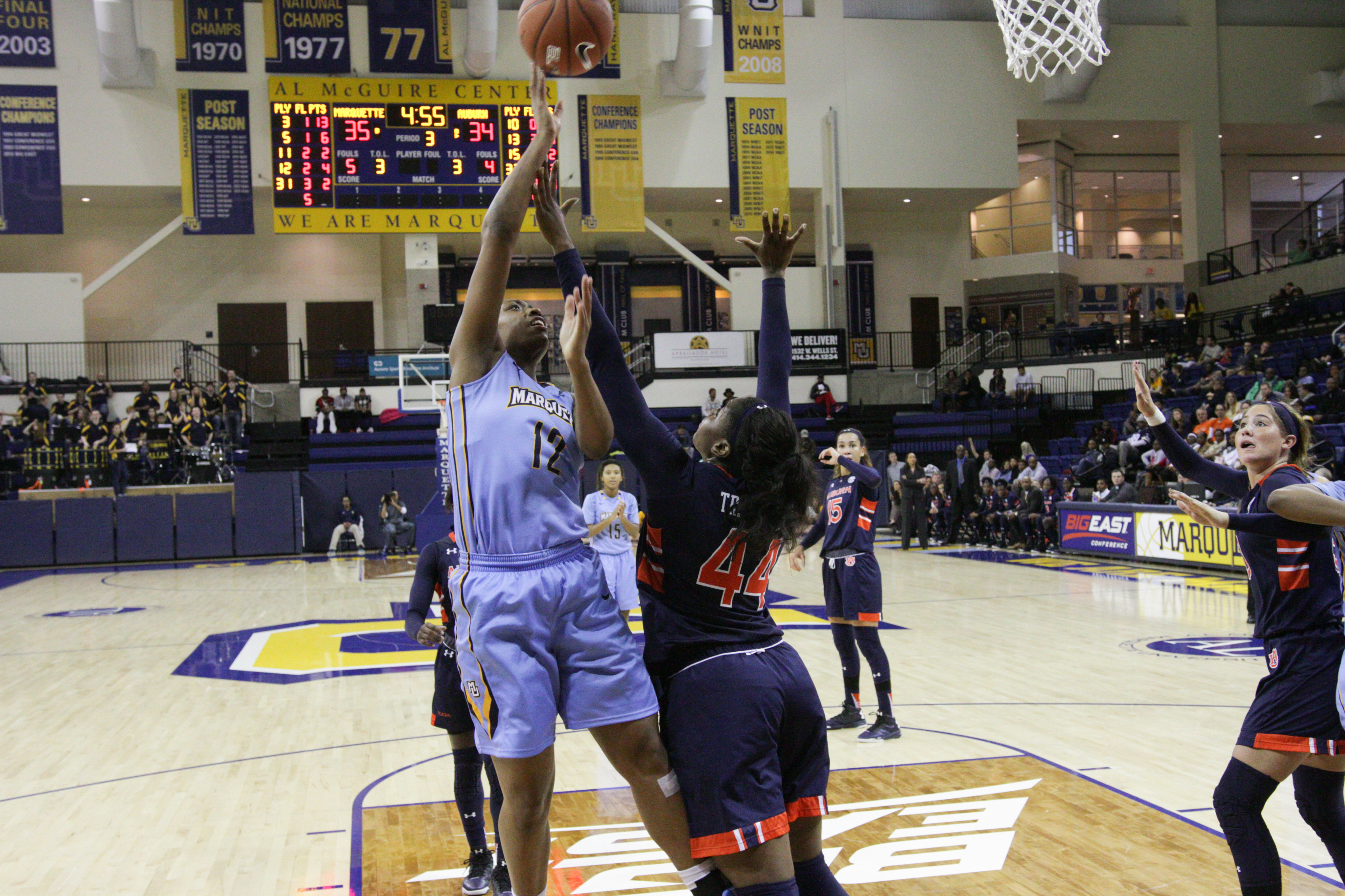 Erika Davenport recorded her second double-double of the season with 18 points, 10 rebounds.