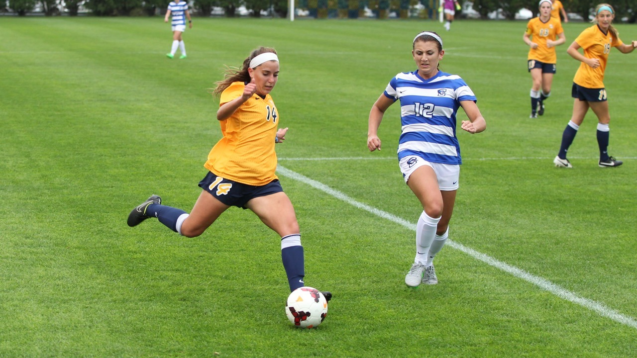 Freshman Jamie Kutey's cross from the goal line provided an assist on the match's final goal.