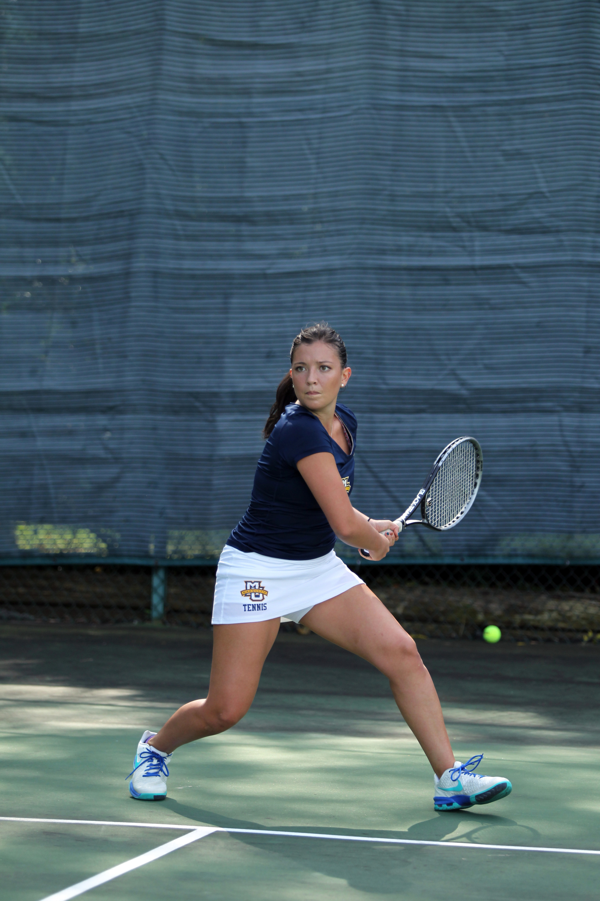 Aleeza Kanner won her doubles match with Leoni Daems on Friday