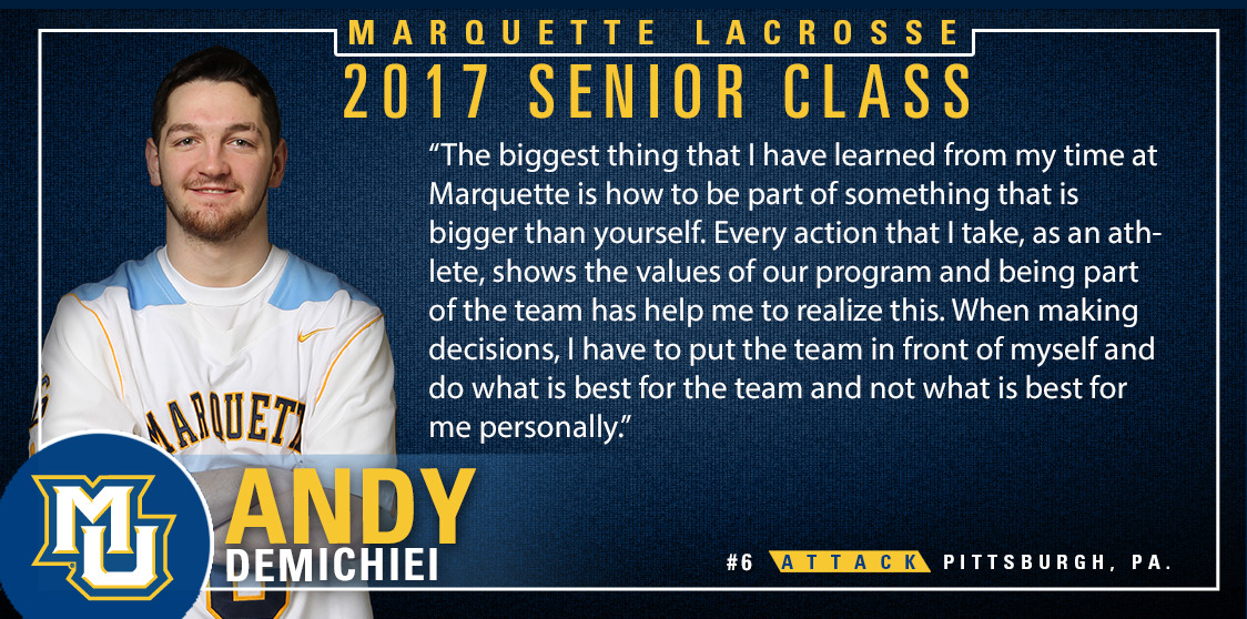 DeMichiei was a Senior CLASS Award candidate and holds a 3.66 GPA as an accounting and finance double major.