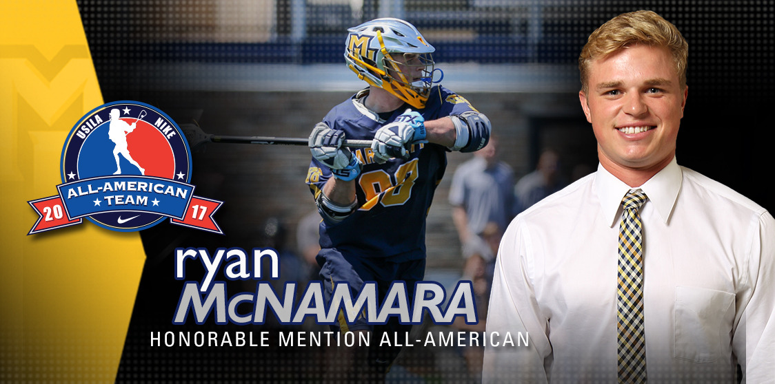 Ryan McNamara is MU's only two-time USILA All-American and its leading goal scorer and point producer.