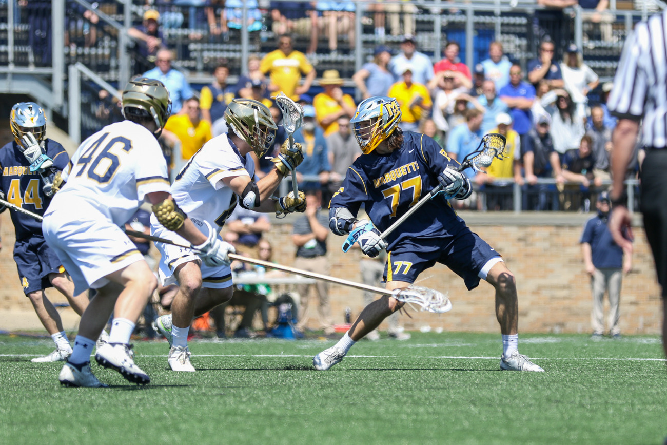 The Golden Eagles resume play in the Midwest Lacrosse Classic on Sunday at 10 a.m. CT against Bellarmine.
