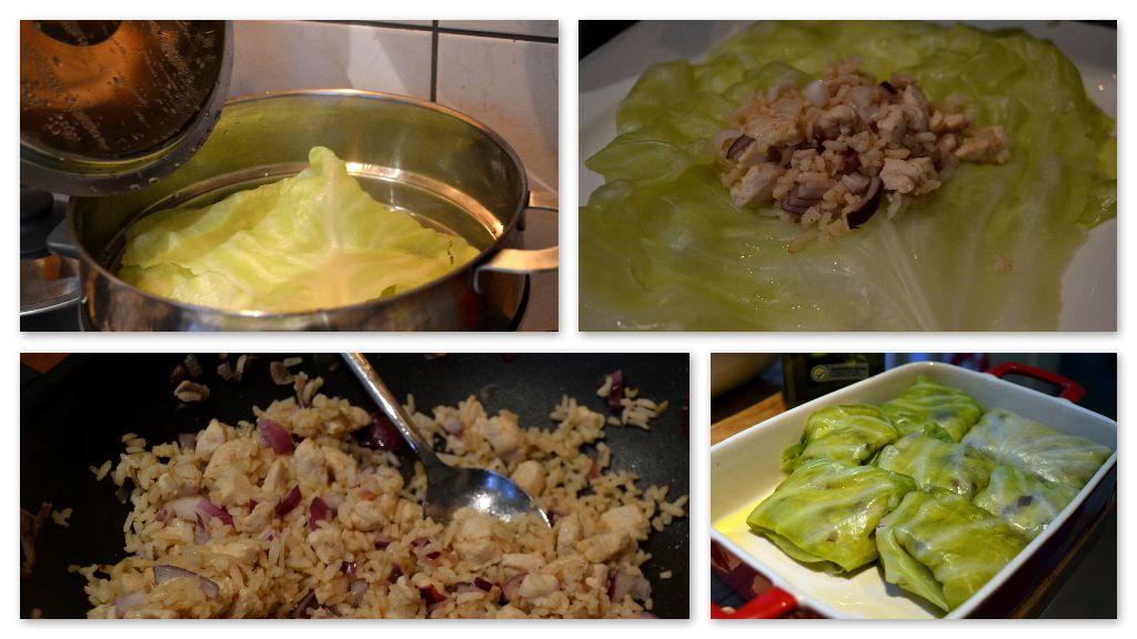 cabbage rolls preparation