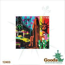 _QUADRO FRENTE VIDRO NY FUNDO COLORIDO FULLWAY 80x80x7cm