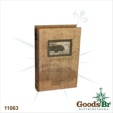 LIVRO BOOK BOX CJ 2PC SEDA AUTO MOBILE OLDWAY 33x22x7cm