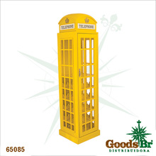 _ADEGA MADEIRA CABIN TELEFONICA AMARELA OLDWAY 171x44x44cm