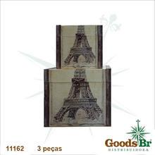 _BAUS CJ 3PC CAIXA PARIS EIFFEL OLDWAY 53x57x51cm