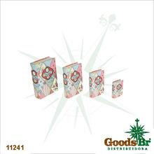 _BOOK BOX CJ 4PC PATCHWORK OLDWAY 30x21x7cm