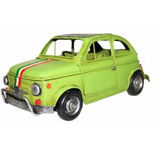 _CARRO FIAT 500 VERDE EM METOLDWAY 47x3x12cm