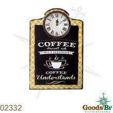 _RELOGIO COFFEE COM QUAD ESCRITO OLDWAY 38x25x4cm