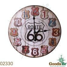 RELOGIO PAREDE MDF ROUTE 66 OLDWAY D=60 60x60x3cm