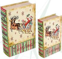 _BOOK BOX CJ 2PC TRENO COM RENAS OLDWAY 27x18x7cm