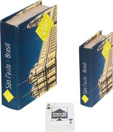 _BOOK BOX CJ 2PC+CARTAS ESTACAO LUZ FULLWAY 20x14x4cm