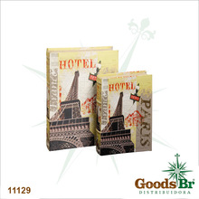 _BOOK BOX CJ 2PC EIFFEL HOTEL SEDA OLDWAY 33x22x7cm
