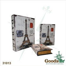 LIVRO (BOOK BOX) CJ 3PC PARISOLDWAY 35x26x8cm