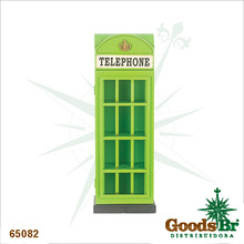 _CABINE TELEPHONE VERDE PORTA CD OLDWAY 80x28x18cm