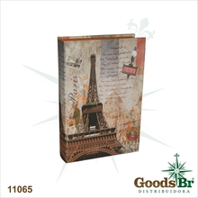 LIVRO BOOK BOX CJ 2PC EIFFEL METRO OLDWAY 33x22x7cm