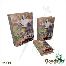 LIVRO (BOOK BOX) CJ 3PC RIODE JANEIRO FULLWAY 35x26x8cm