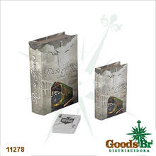 _BOOK BOX CJ 2PC+CARTAS CRISTO RJ FULLWAY 20x14x4cm