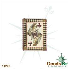 _BOOK BOX PARA CARTAS NAIPE DE PAUS SEDA OLDWAY 17x13x4cm