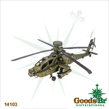 _HELICOPTERO VERDE EM METAL OLDWAY 42x48x15cm