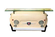 _APARADOR PARED FTE FIAT 500AMARELO OLDWAY 42x70x12cm