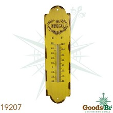 _TERMOMETRO EM METAL AMARELOHOME OLDWAY 39x10x0,5cm