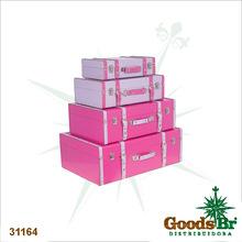 _MALETAS CJ 4PCS PINK/ROXO BRHO GD FULLWAY 60x40x22cm