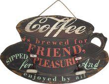 _PLACA EM MADEIRA COFFE OLDWAY57X91X2cm